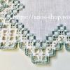 ハーダンガー刺繍のミニマットを色の入った刺繍糸で