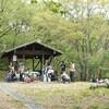 太田市の金山の森キャンプ場で森のようちえん体験会が開かれました