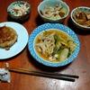 幸運な病のレシピ( 2546 )夜:モツ煮、レンコン肉詰め、汁