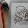 完成】つけペンでペン画風を目指して☆鏡の国のアリスより