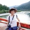 日本 根尾川の小さな橋の上で