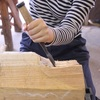 11年生の木彫   Plastizieren der 11Klasse