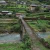 十津川村の内原地区と奥里集落 森と渓谷の傾斜集落