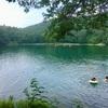 お盆休みキャンプ3日目@四尾連湖と身延