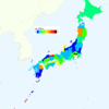 Murder Rate (Number of Actual Victims) by Prefecture in Japan, 2015