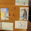 すごいぞ!!7年生の力作  gemalte Postkarten der 7.Klasse für den Tag der  öffenen Tür