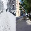 冬のモントリオール、春のモントリオール。