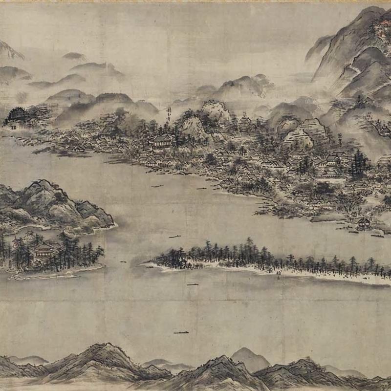 雪舟が描いた国宝『天橋立図』をガイドに日本三景の天橋立を歩く
