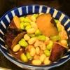 【1食31円】冷凍揚げナスと豆のめんつゆ煮の作り方