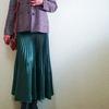 トレンドキーワード18「プリーツスカート」 AKTEのジャケットとのコーデ