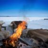 【冬キャンプ】焚き火を楽しみたい方へ【ブランケット】
