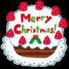 クリスマスケーキ、シャンメリー、ベストマッチ!