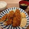 小田保でアジ・ハモフライ定食
