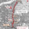 岐阜市役所新庁舎と岐阜横丁の位置図