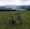 電動アシスト自転車で上品山(標高465.7m)に登ってみる。