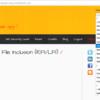 bWAPPでA7-Remote&Local File Inclusion(RFI/LFI)
