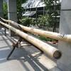 竹の楽器。スリットドラムとギロ