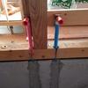 新築アパートの工事 水道、ガス配管工事