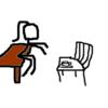 もしもテーブルとイスが逆だったら…想像して楽しむ暇つぶし