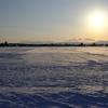 雪原と太陽の光景 with NIKKOR-N・C Auto 24mm F2.8