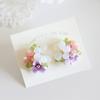 「紫陽花のブーケ」ピアスとイヤリング、1点ずつ出品しました