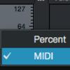 %表記から値(バリュー)表記への変更 (Studio One)