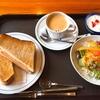 上高地食堂で朝食を。夜行バスが上高地に着いたらすぐに食べれる、山のモーニングメニュー。