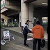 今日のつまがり3/28(木)朝の駅頭は3月最後の飯山満駅