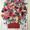 お花の壁画