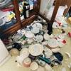 大阪地震のダメージ!モノが多い実家の被害を公開!