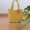 エコアンダリアのバッグを編みました。