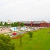 ミニチュア風写真『横浜みなとみらいと新港赤レンガ倉庫と大さん橋』
