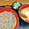 【東京 名代富士そば】 カツ丼セットでがっつり朝ごはん