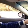 16.09.10 alan新曲MV撮影、車を運転