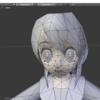 モブ子さんの目をBlenderで調整する