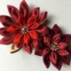 「つまみ細工」でスイレンの花やコサージュを作りました