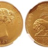 ブリティッシュ インディア 1841年モハー金貨MS63
