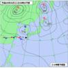 明日は九州南部〜奄美諸島付近で強い雨かも