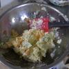 幸運な病のレシピ( 1139 )朝:マッシュポテト、ポテトサラダ、鮭、ニシンテリ、味噌汁