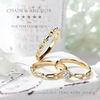神戸港開港150年を記念した「チェーン&アンカー」のマリッジリング,結婚指輪