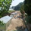 土砂崩れ発生の様子10 土砂撤去とブルーベリー