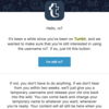 気付いたらTumblrのユーザ名が変更されていた件