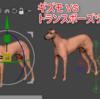 Zbrushのギズモ VS トランポーズツール