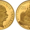 神聖ローマ帝国1887年クッテンベルク鉱山再開2グルテン記念金貨