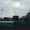 プー丸との散歩の途中で虹を見た、雨上がりのめぐみ坂。