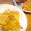 ポテトフライ、玉子焼き、ウィンナー、かき揚げ、ささみ梅肉、塩鯖