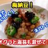 【レシピ】暑い夏にぴったり!ネバとろ梅納豆!