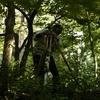 軽井沢の森でレベル測量