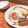 糖質制限中のある日の朝食