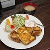 【喫茶 珈珈】厚めでふんわり食感のフレンチトースト(中区猫屋町)